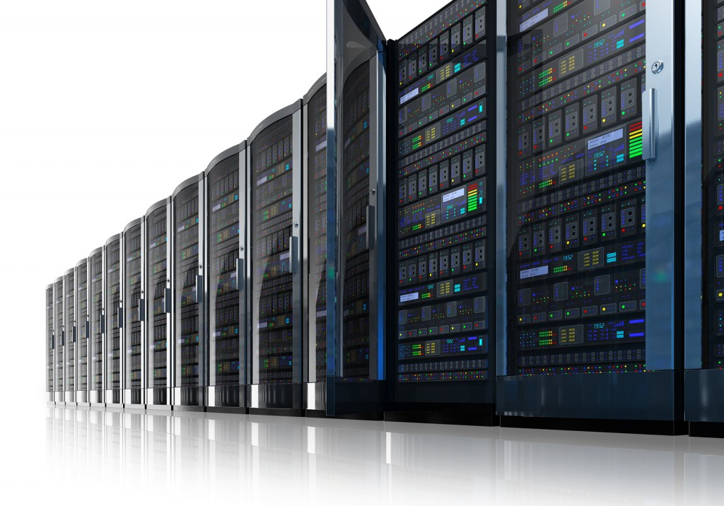 row of servers in RAID for data recovery